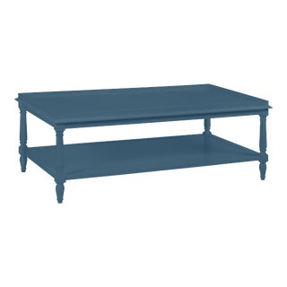 Casa Cosima Revere Cocktail Table, Van Deusen Blue For Sale