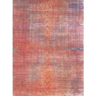 Contemporary Optical Rug by Carini, 9'x12' For Sale