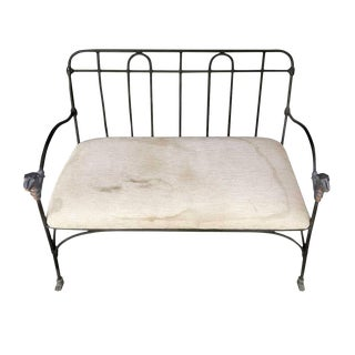 J-Art Iron Co Settees With Lion Heads, Late 20th Century For Sale
