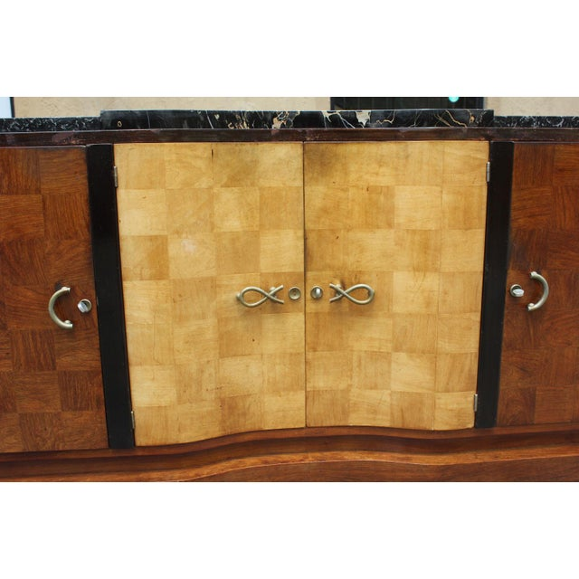 French Art Deco Palisander and Sycamore Buffet / Sideboard By Tricoire Circa 1930s - Image 5 of 11