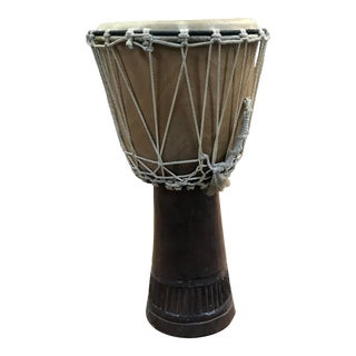 1920s African Hand Carved Drum For Sale