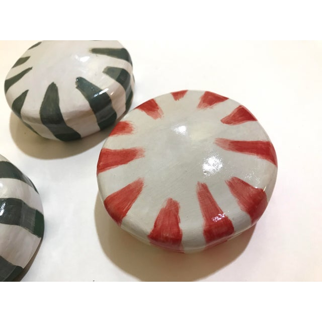 Ceramic Ceramic Wall Donuts - Set of 3 For Sale - Image 7 of 8