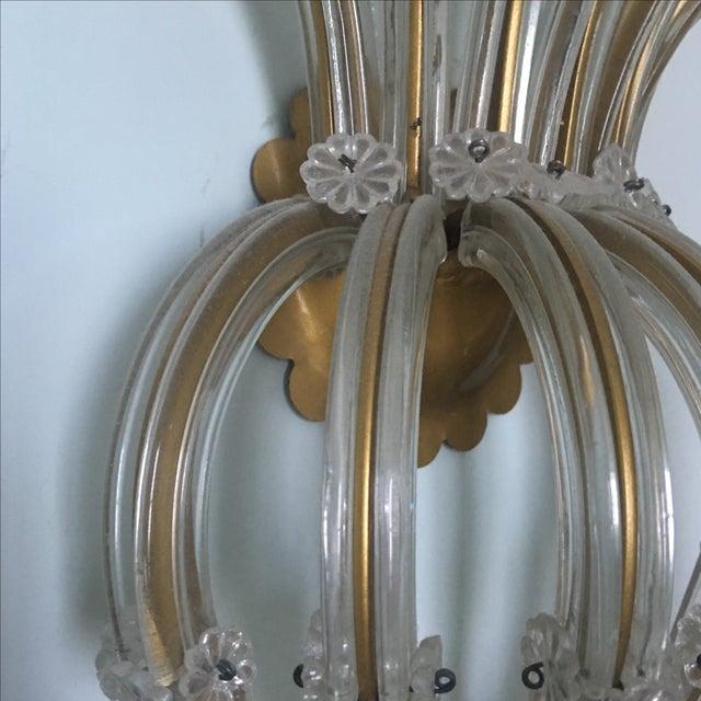 Vintage 11 Light Large Crystal Sconce For Sale - Image 4 of 7