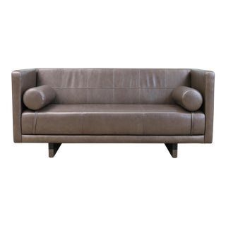 Contemporary Modern Leather Sofa For Sale