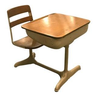 Mid-Century School Desk & Chair