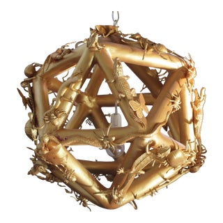 Late 20th Century Cabinet of Curiosities Polyhedron Chandelier For Sale