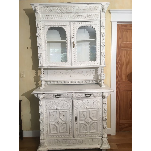 French Gothic Cabinet & Hutch - Image 3 of 8