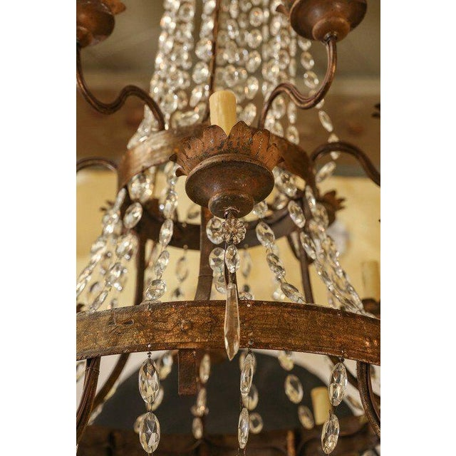 Early 19th Century Large Gilt-Iron Italian Chandelier For Sale - Image 5 of 6