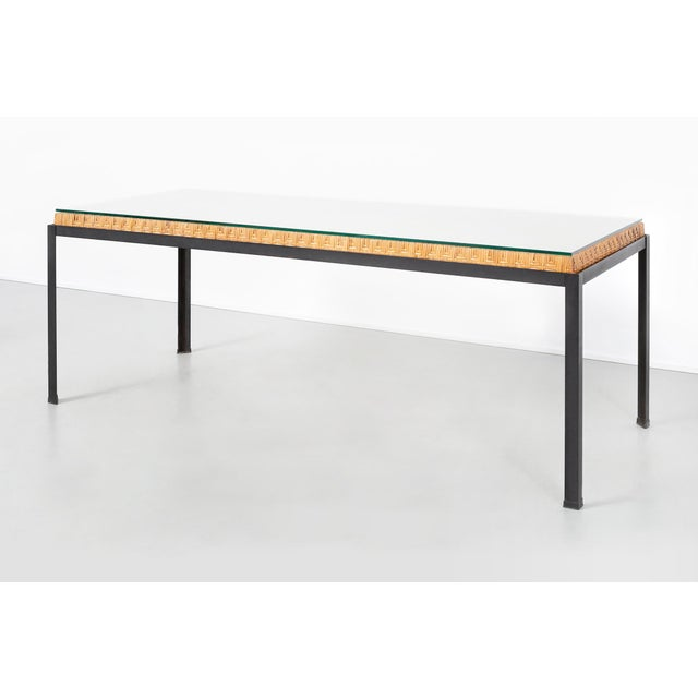 Danny Ho Fong Hand-Woven Reed Dining Table For Sale - Image 11 of 11