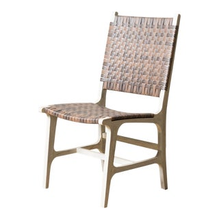 Rawley Outdoor Dining Side Chair Walnut For Sale