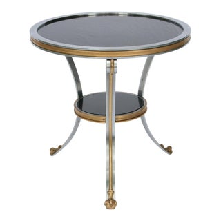 A French Empire Style Stone and Steel Gueridon / Side Table For Sale