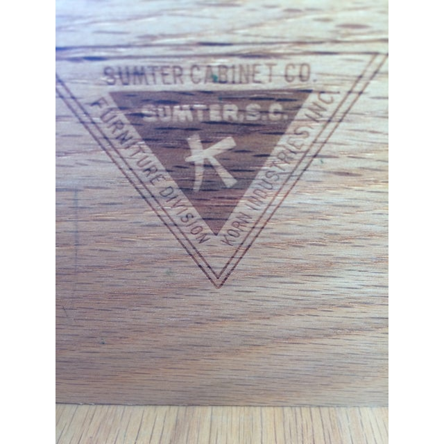 Brown Sumter Furniture Company Solid Maple 9-Drawer Chest on Chest For Sale - Image 8 of 9