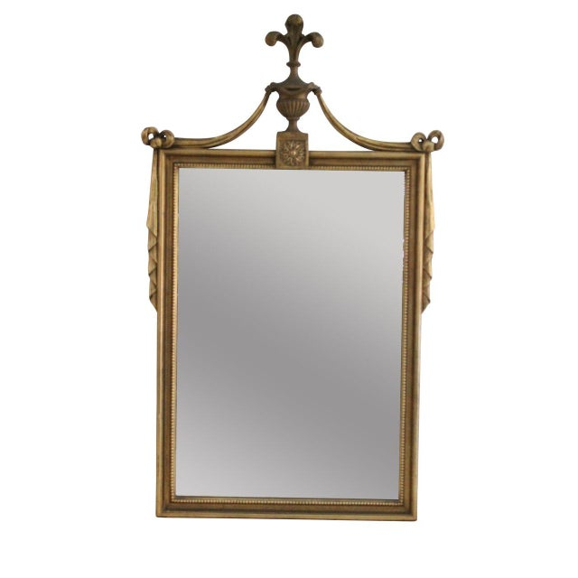 Gilded Tassel & Rose Mirror - Image 1 of 3