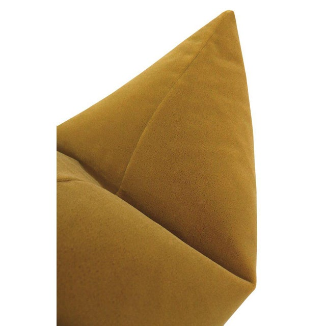 """22"""" Tobacco Mohair Pillows - a Pair For Sale - Image 4 of 5"""