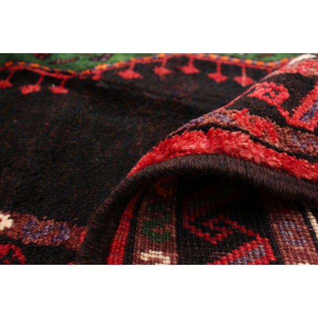 Red Hand-Knotted Turkish Red Rug For Sale - Image 8 of 9