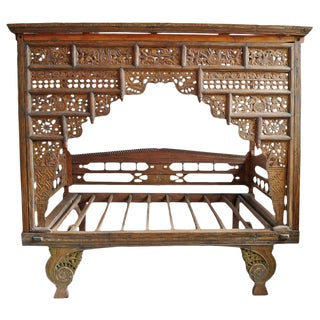 Vintage Balinese Canopy Daybed For Sale