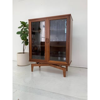 1960s Sculptural Walnut and Glass Bookcase Preview