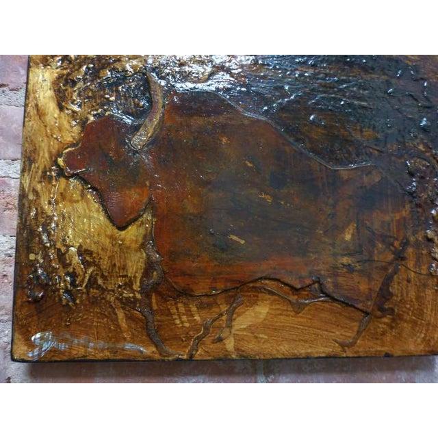 Michael Gorman Bull Painting - Image 4 of 4