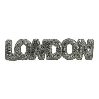 "Mirror Mosaic ""London"" Sign For Sale"
