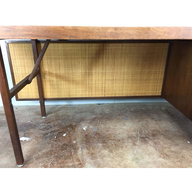 Large Walnut Executive Desk - Image 9 of 11