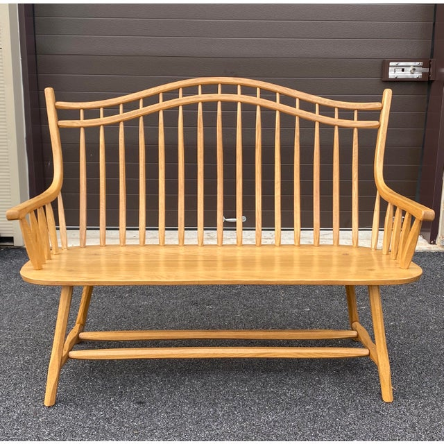 Hunt Country Furniture Queen Anne Settee For Sale - Image 13 of 13