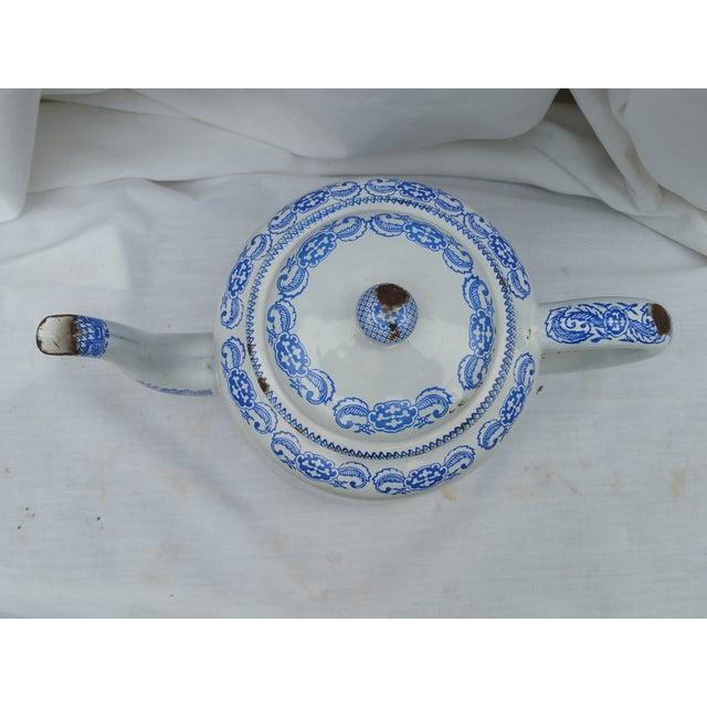19th Century Enamel Willow Teapot - Image 4 of 5