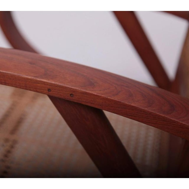 Pair of Danish Solid Teak Studio Lounge Chairs For Sale - Image 9 of 11