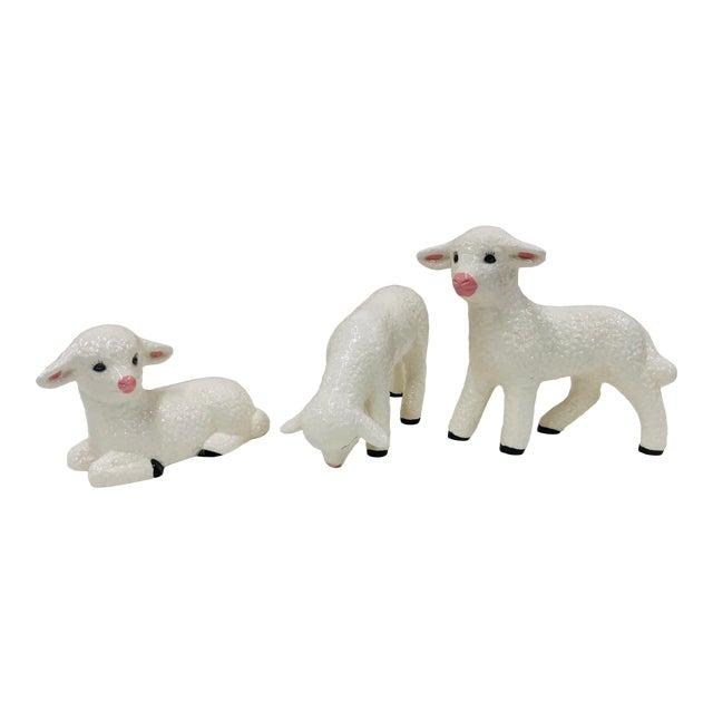 Vintage Ceramic Lamb - Set 3 For Sale