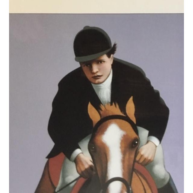 Realism The Hampton Classic Poster 1991 by Lynn Curlee For Sale - Image 3 of 7