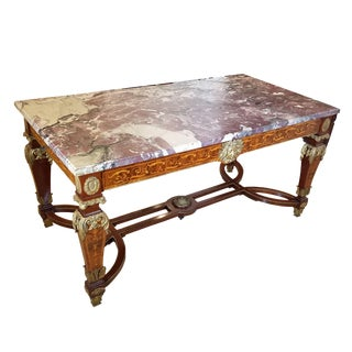 A Louis XVI Style Library Table by François Linke For Sale