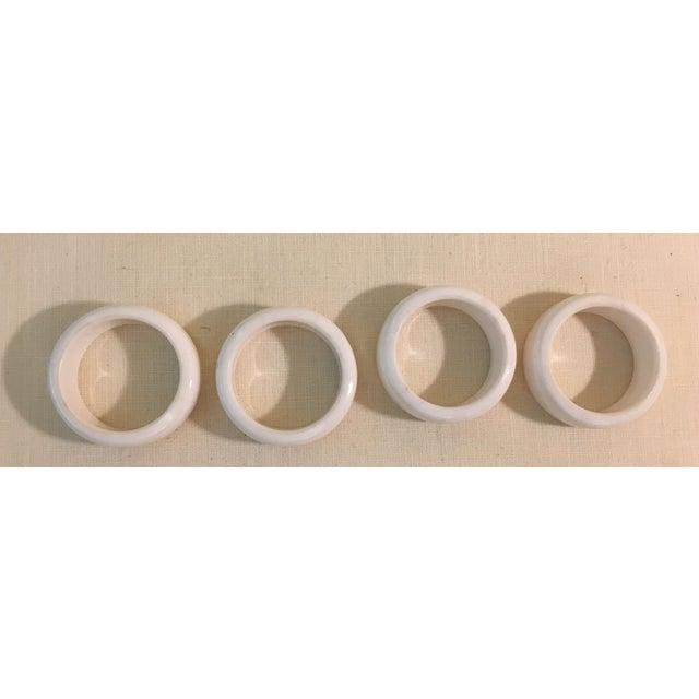 Mid-Century Modern Acrylic Napkin Rings - Set of 4 - Image 6 of 7
