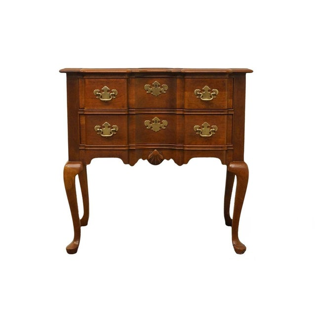 20th Century Traditional Wells Furniture Cherry Blockfront Lowboy Chest For Sale - Image 13 of 13