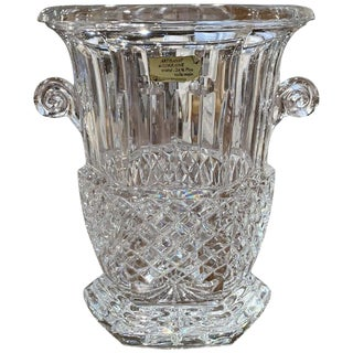 Vintage French Cut Crystal Champagne Ice Bucket For Sale