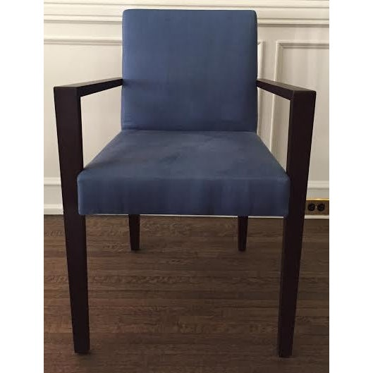 Ligne Roset Blue Dining Chairs - Set of 8 - Image 2 of 7