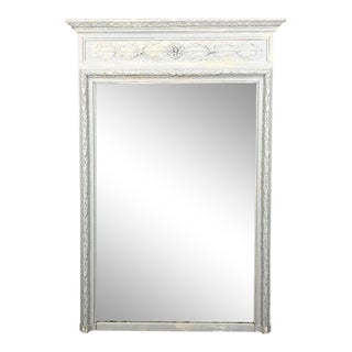 19th Century French Neoclassical Painted Trumeau, Ca. 1860 For Sale