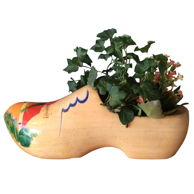 Dutch Wood Clog Planter - Image 1 of 6