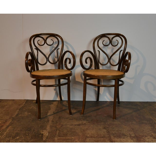 1960s Pair of Bentwood Chairs For Sale - Image 5 of 5