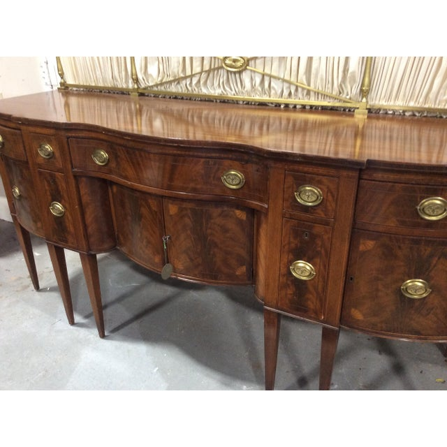 1940s Hepplewhite Style Mahogany Sideboard With Inlay For Sale In Boston - Image 6 of 10