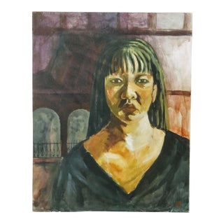 Contemporary Female Portrait Painting For Sale