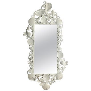 White Sea Shell Mirror For Sale