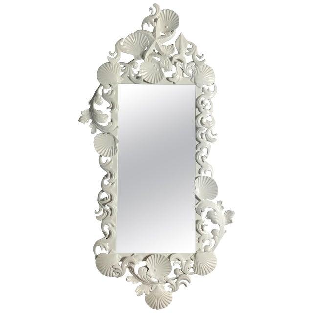 White Sea Shell Mirror For Sale