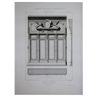 Cesar Daly 19th Century Architectural Drawing I For Sale