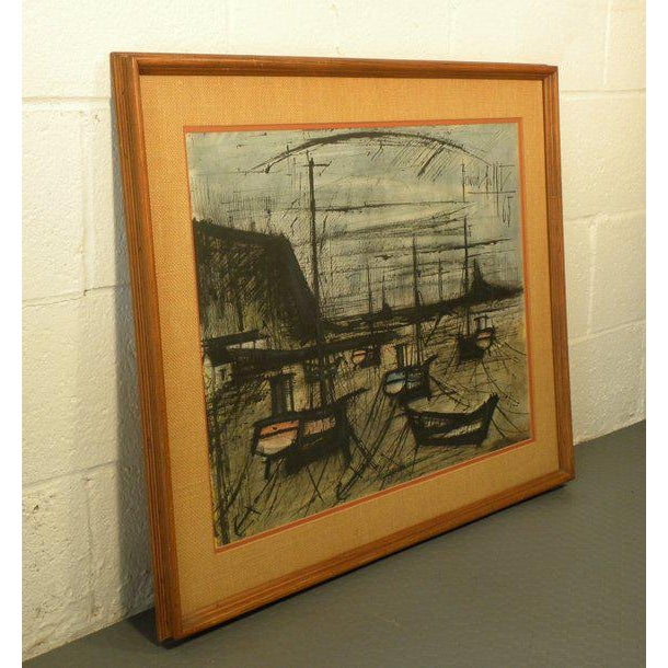Brutalist Vintage French Expressionist Bernard Buffet Lithograph For Sale - Image 3 of 9