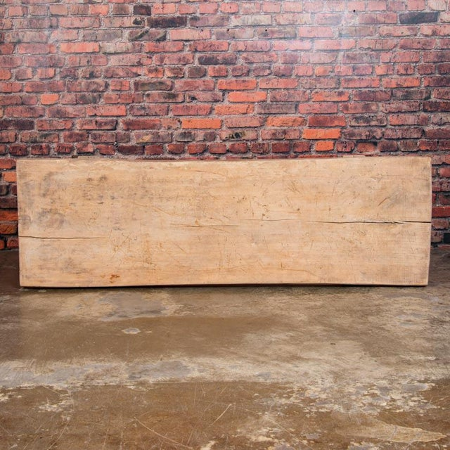 1920s Rustic Wood Console Table With Industrial Cast Iron Legs For Sale In Denver - Image 6 of 8