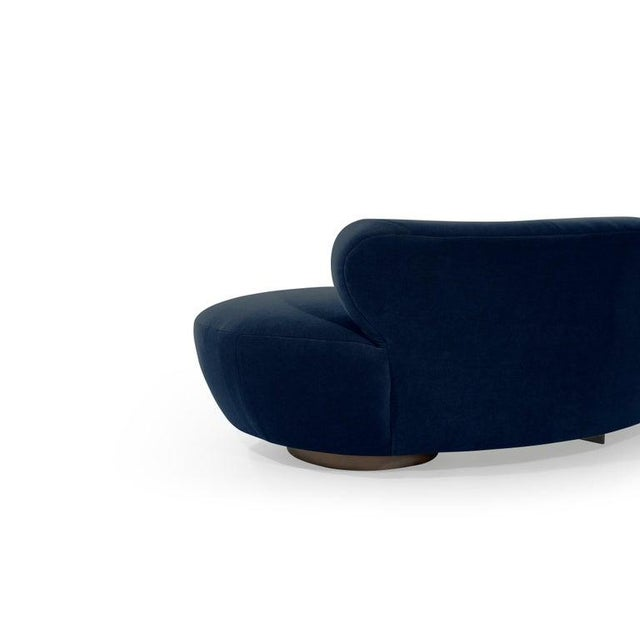 Late 20th Century Mohair Cloud Sofa on Walnut Bases by Vladimir Kagan for Directional For Sale - Image 12 of 13