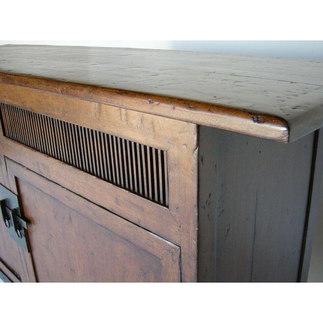1920s Custom Walnut Wood Media Console on Iron Base For Sale - Image 5 of 9