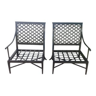 Modern Patio Lounge Chairs - A Pair For Sale