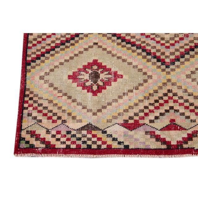 Vintage Turkish Scatter Wool Rug 4 X 7 For Sale - Image 10 of 13