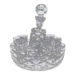 Faberge Crystal Egg Liquor Set For Sale