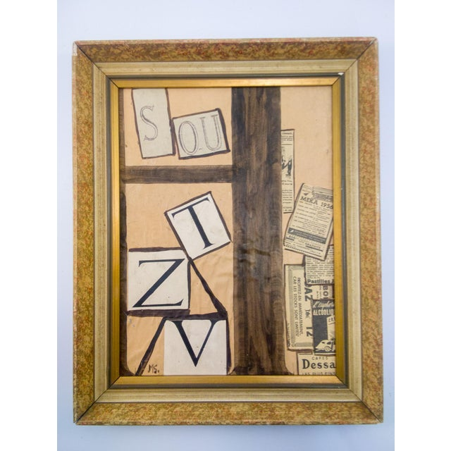 Abstract Cubist Mixed-Media Painting For Sale In Atlanta - Image 6 of 6